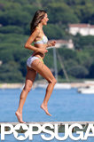 Alessandra Ambrosio pranced around in Saint-Tropez.
