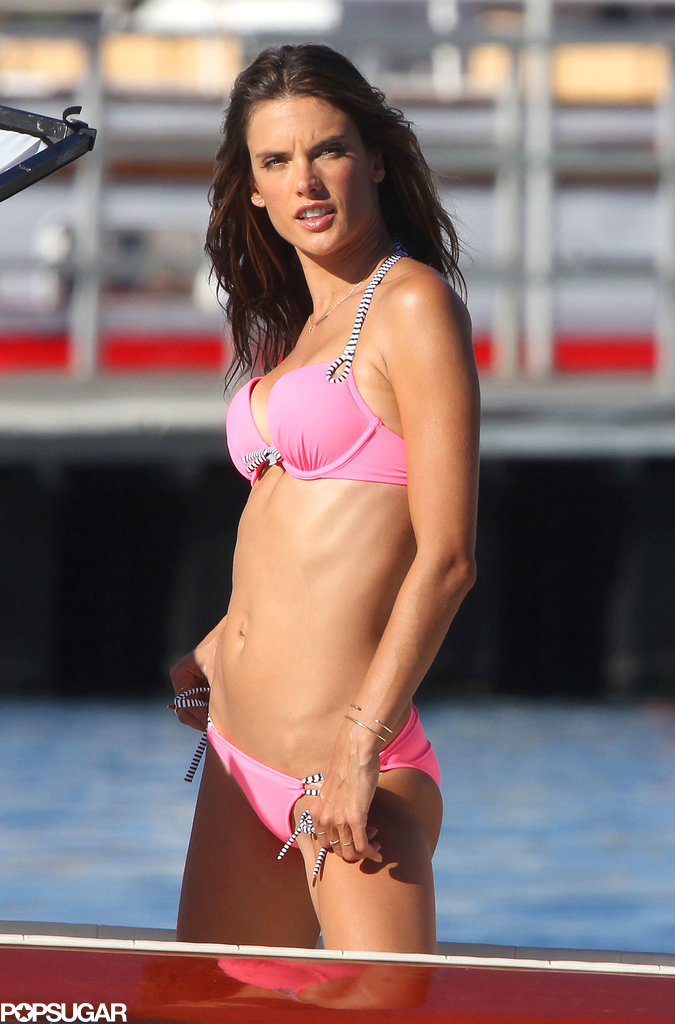 Alessandra Ambrosio participated in a Victoria's Secret photo shoot.