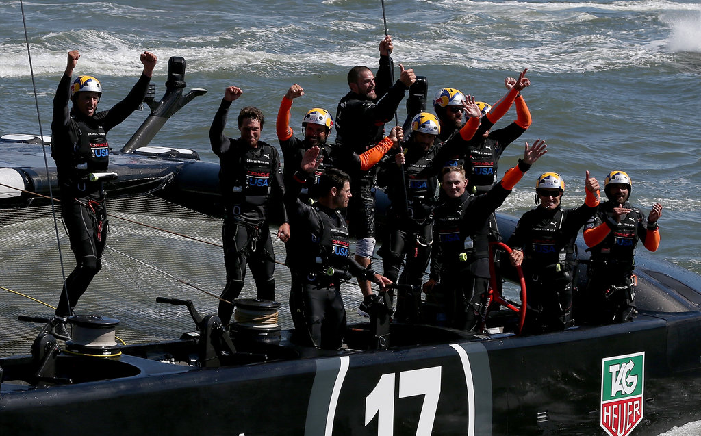 Oracle Team USA cheered from the water after winning the final race in San Francisco.