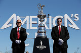 Oracle Team USA was presented with a trophy after winning America's Cup.