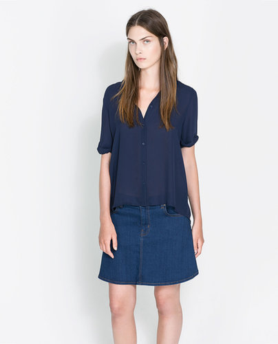 Shirt With A Pleat In The Back