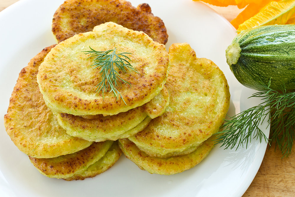 Zucchini bread pancakes are lightly sweet from a little sugar and ...