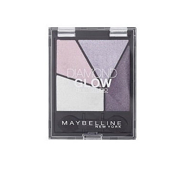 For a daytime look, the colours in the Maybelline Diamond Glow Quad in Purple Drama (£7) can be slowly built up for a softer look. Skip the dark shade, and concentrate on the lighter pinkish purples if you prefer a more natural look.