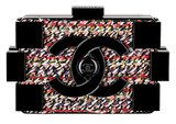 Chanel Black Plexiglass Clutch With Multicolor Tweed Photo courtesy of Chanel