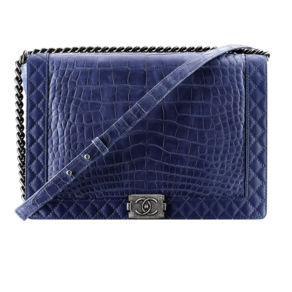 Chanel Blue Exotic Leather Boy Chanel Bag Photo courtesy of Chanel