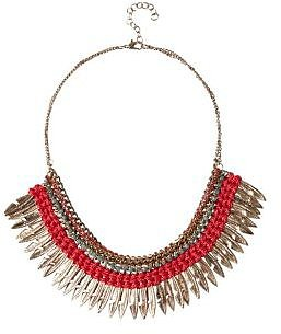 Collier femme plumes