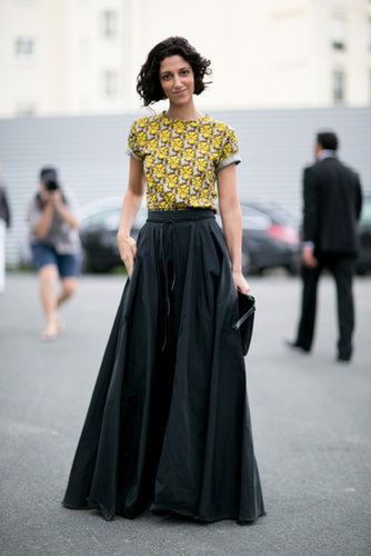Yasmin Sewell got our attention in a full skirt.