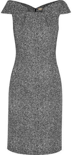 Michael Kors Origami-folded wool-tweed dress