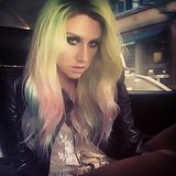 "Ke$ha shared an artful selfie with the caption, ""Feeling the rainbow."" Source: Instagram user iiswhoiis"