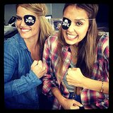 "Jessica Alba celebrated ""Talk Like a Pirate Day"" at her Honest Company offices. Source: Instagram user jessicaalba"