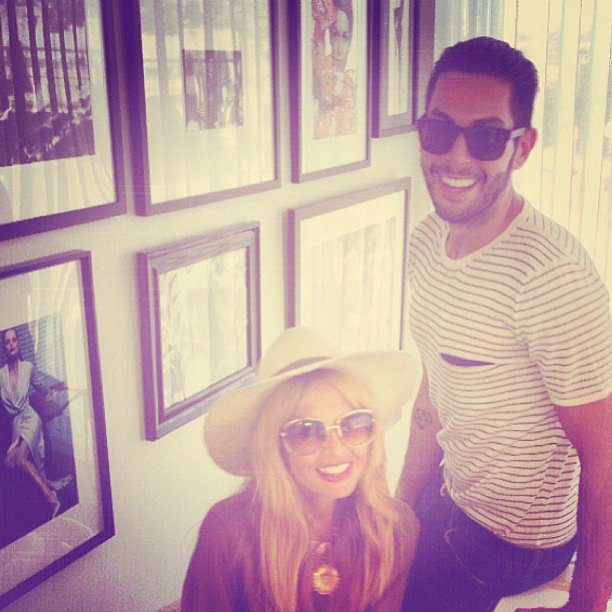 Rachel Zoe and Joey Maalouf shared a photo from the office. Source: Instagram user joeymaalouf