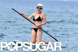 Chelsea Handler had a laugh while paddleboarding on vacation.