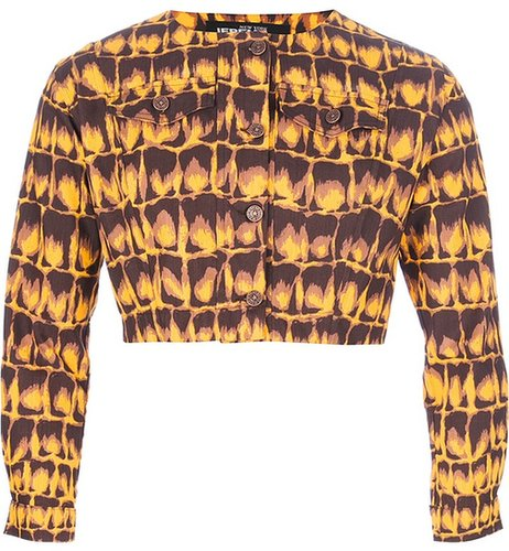 Jeremy Scott cropped jacket