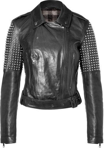 Burberry Brit Studded Leather Valletortem Jacket