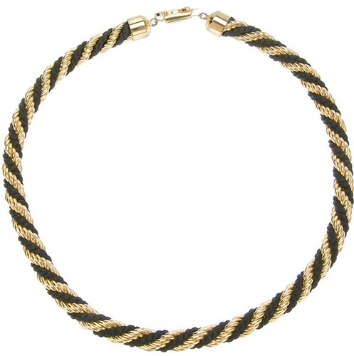 Céline Vintage bi-colour twist necklace