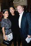 Salma Hayek Pinault and François Henri Pinault joined Alexander Wang after his Balenciaga Paris Fashion Week runway show.