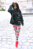 M.I.A. attended the Balenciaga show on Thursday in Paris.