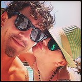 Kaley gave Ryan a sweet smooch.  Source: Instagram user Ryan Sweeting