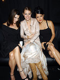 Gwyneth Paltrow partied with Sandra Bullock and Salma Hayek at the VH1/Vogue Fashion Awards in NYC in October 2001.