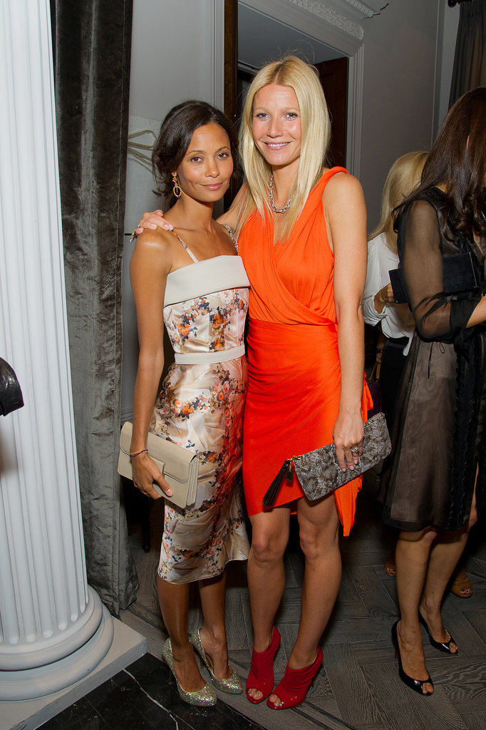 Gwyneth Paltrow and fellow stunning actress Thandie Newton posed together at a Coach dinner in London in September 2011.