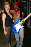 Gwyneth Paltrow posed with Andre 3000 backstage at the MTV VMAs in August 2004.
