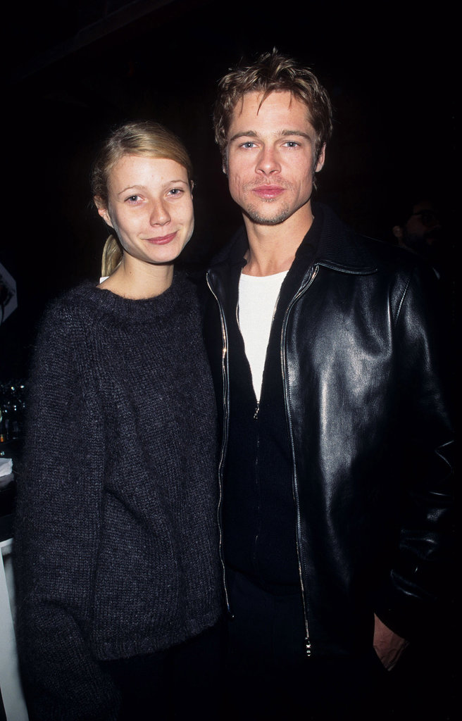 Look at those baby faces! Then-couple Gwyneth Paltrow and Brad Pitt hit the town together in September 2000.