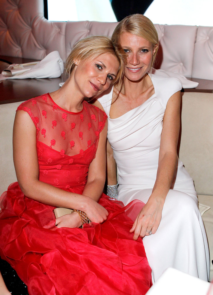Gwyneth Paltrow shared a sweet moment with Claire Danes during the 2012 Vanity Fair Oscars afterparty in LA.