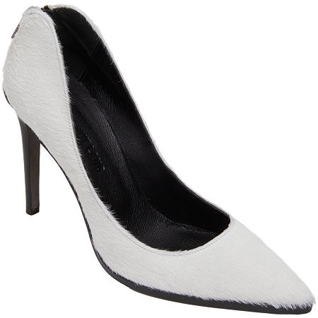 White pumps were all the rage this Summer, and here you're looking at the Fall/Winter version: Helmut Lang's calf hair pumps ($450). They're just so cozy chic, and I especially adore the exposed zipper in the back. I can't wait to wear them with an all-black ensemble to work and on the weekends.   — MN