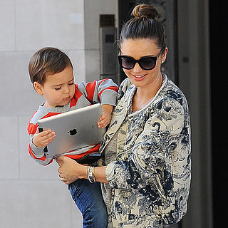 Miranda Kerr and Flynn Bloom With iPad Pictures in NYC