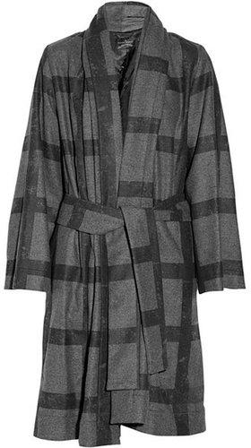 Vivienne Westwood Anglomania Manteau oversize en polaire de laine mélangée à carreaux
