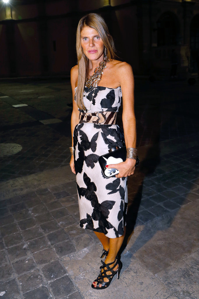 Anna Dello Russo was print-perfect at Lanvin's Spring show.