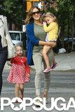 Sarah Jessica Parker carried her daughter Tabitha Broderick.