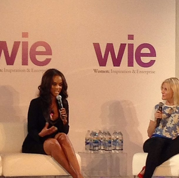 Tyra Banks and Laura Brown on a stage — need we say more?