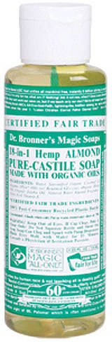 Dr. Bronner's Almond Liquid Soap - Trial Size