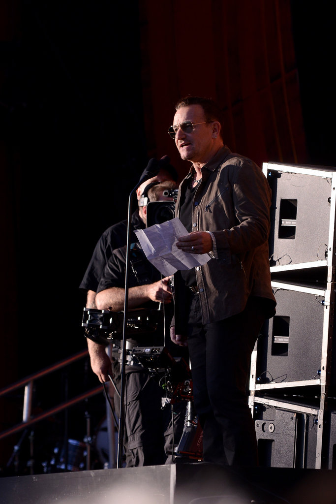 Bono spoke about the cause to end world poverty at the Global Citizen Festival.