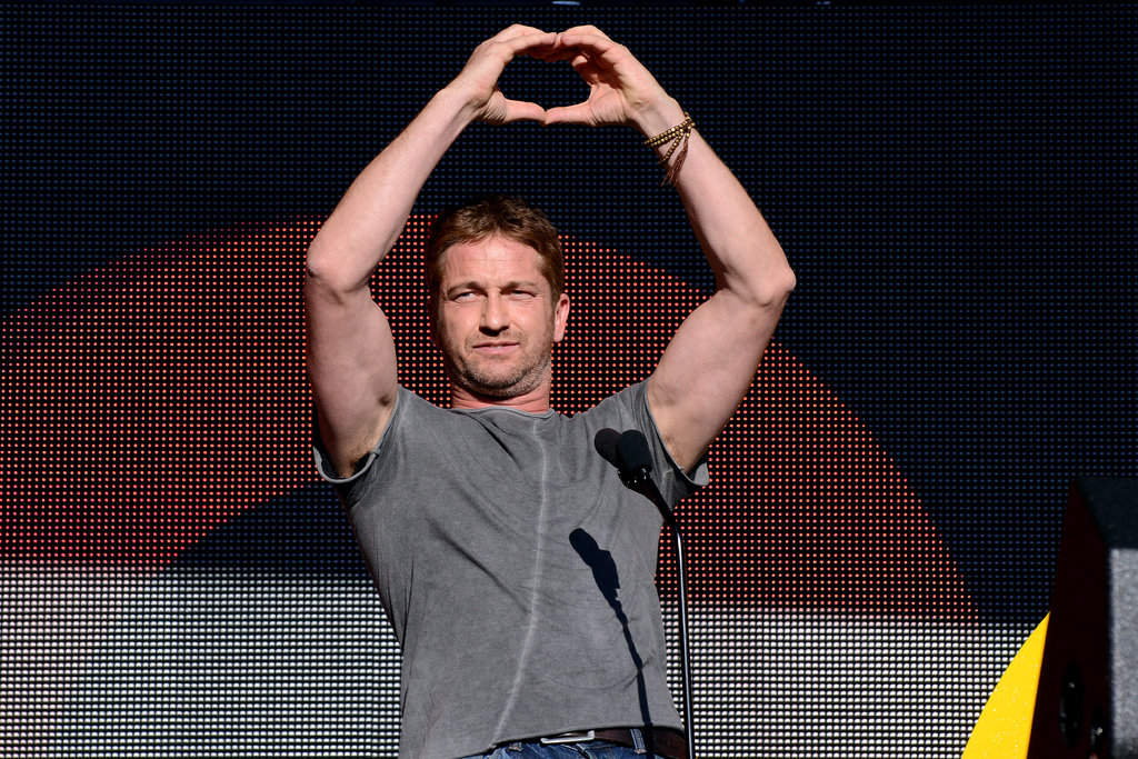 Gerard Butler was all about the love at the Global Citizen Festival.
