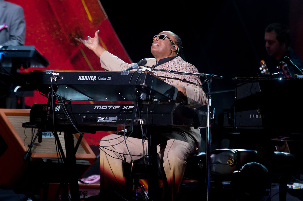 Stevie Wonder took the stage at the Global Citizen Festival.