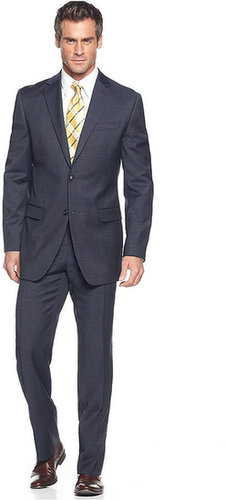 Donald J. Trump Suit, Navy Sharkskin