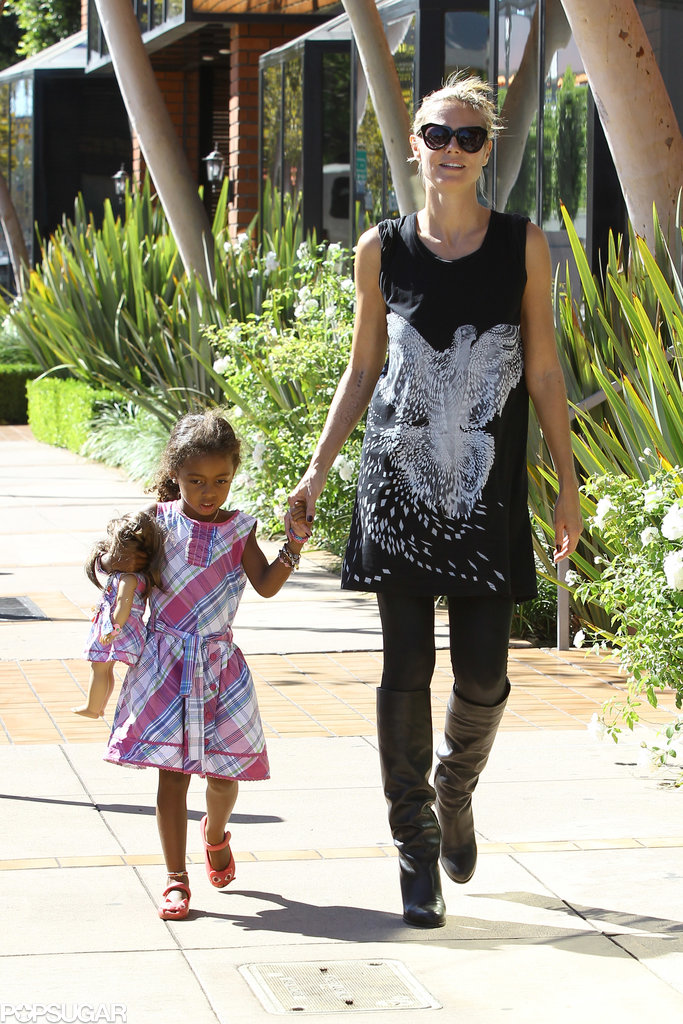 Heidi Klum spent her Saturday in LA with her daughter Lou Samuel.
