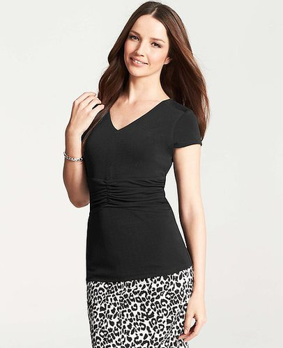Crepe Ruched Waist Top
