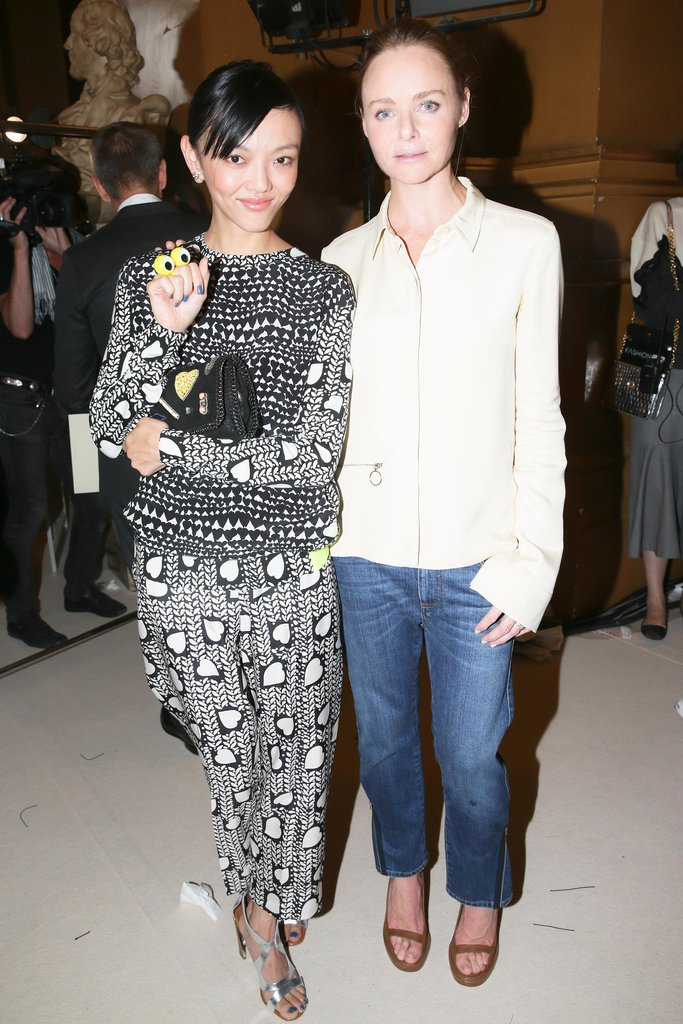 Rila Fukushima and Stella McCartney took in the designer's Spring design s at Opera Garnier in Paris.