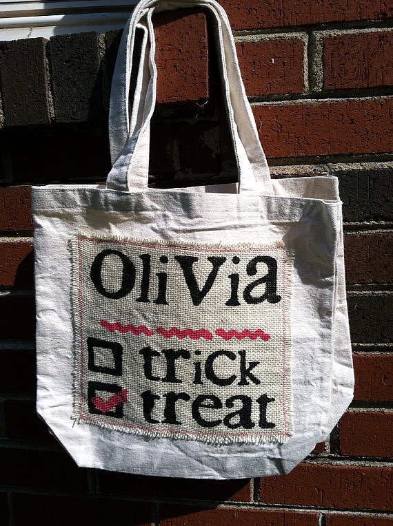 Burlap Trick-or-Treat Tote
