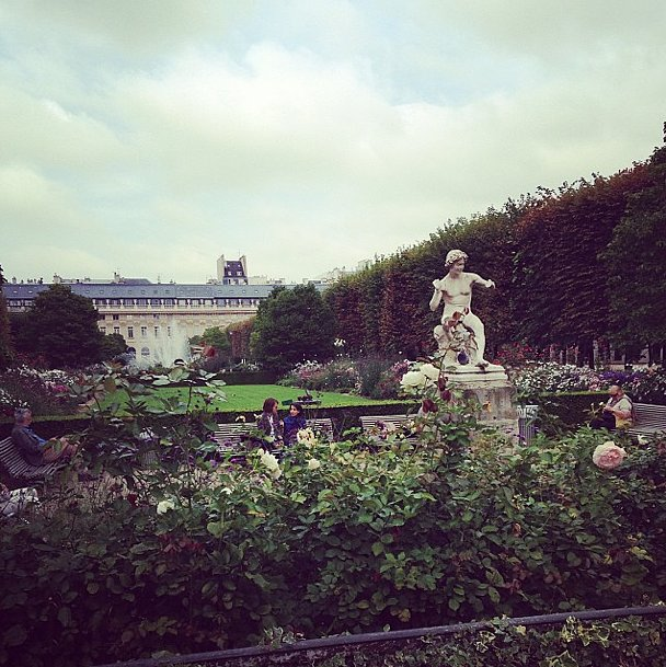 One of our favorite spots in all of Paris: Les Jardins Royal. Perfect for literally stopping to smell the roses (which we admittedly only had about 3.5 minutes to do). Source: Instagram user popsugarfashion