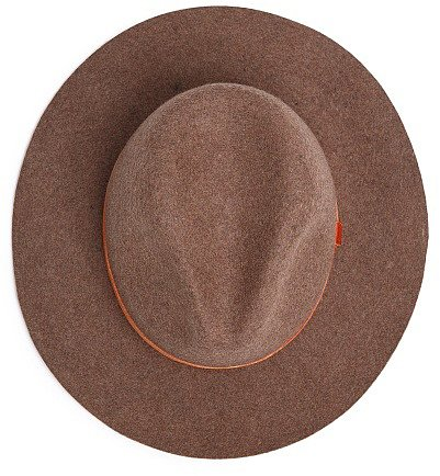 Velvet ribbon wool fedora