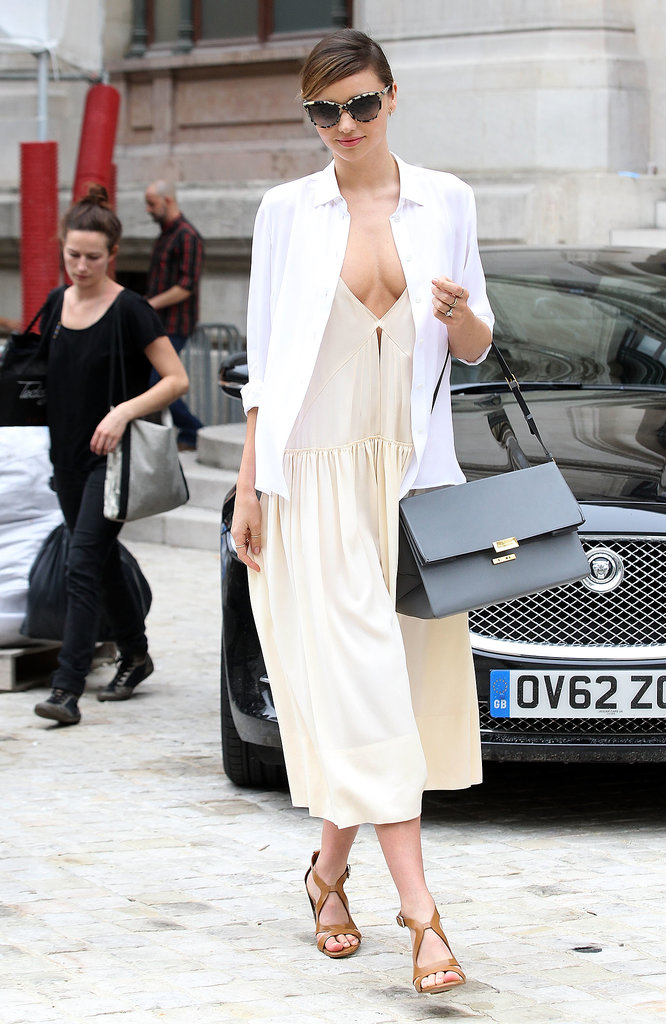 Miranda Kerr popped up in Paris on Monday.