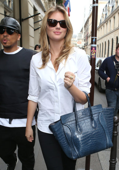 Kate Upton arrived at the Chanel boutique.