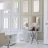 Mirrors add extra architectural appeal to these paneled walls. Source: Instagram user karensframes
