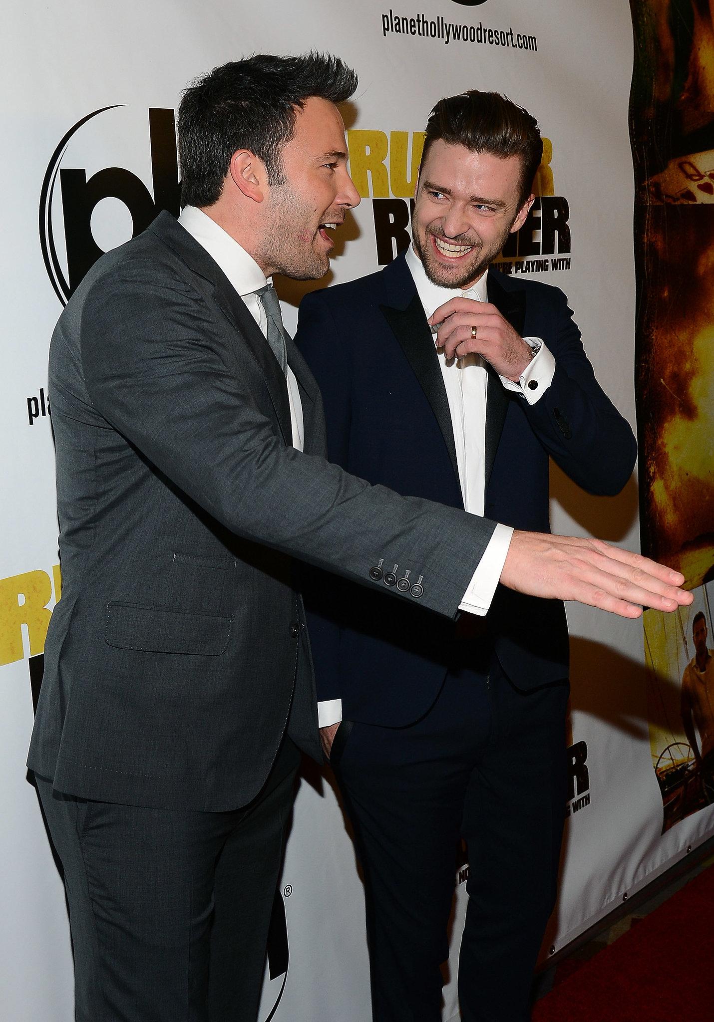 costar Ben Affleck at the film's Las Vegas premiere on Sept. 18