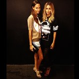 Joan Smalls and Ciara gave the models steep competition for style at Paris Fashion Week. Source: Instagram user ciara