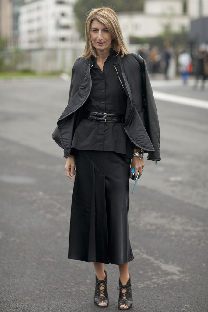 There's nothing ordinary about Sarah Ruston's all black look.